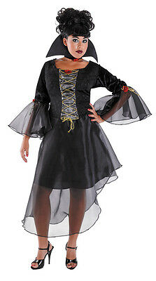 Twilight Countess Vampire Witch Black Plus Size Dress Up Halloween Adult Costume