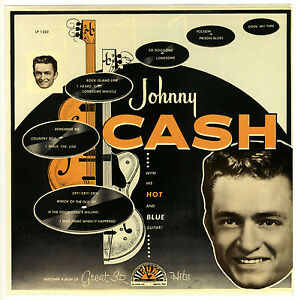 034-WITH-HIS-HOT-amp-BLUE-GUITAR-034-Johnny-Cash-Classic-Album-Poster-A1-A2-A3-A4Sizes