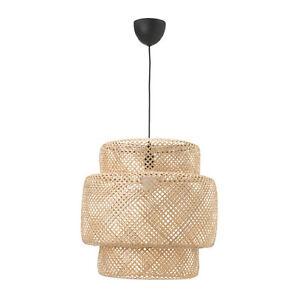 IKEA SINNERLIG Hängeleuchte Naturleuchte Dekolampe Deckenlampe Bambuslampe NEU <