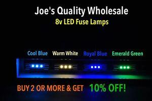 BUY(15)GET(6)FREE 8V-FUSE LED LAMP/ 2275 DIAL METER BULBS--Marantz/COLOR CHOICE