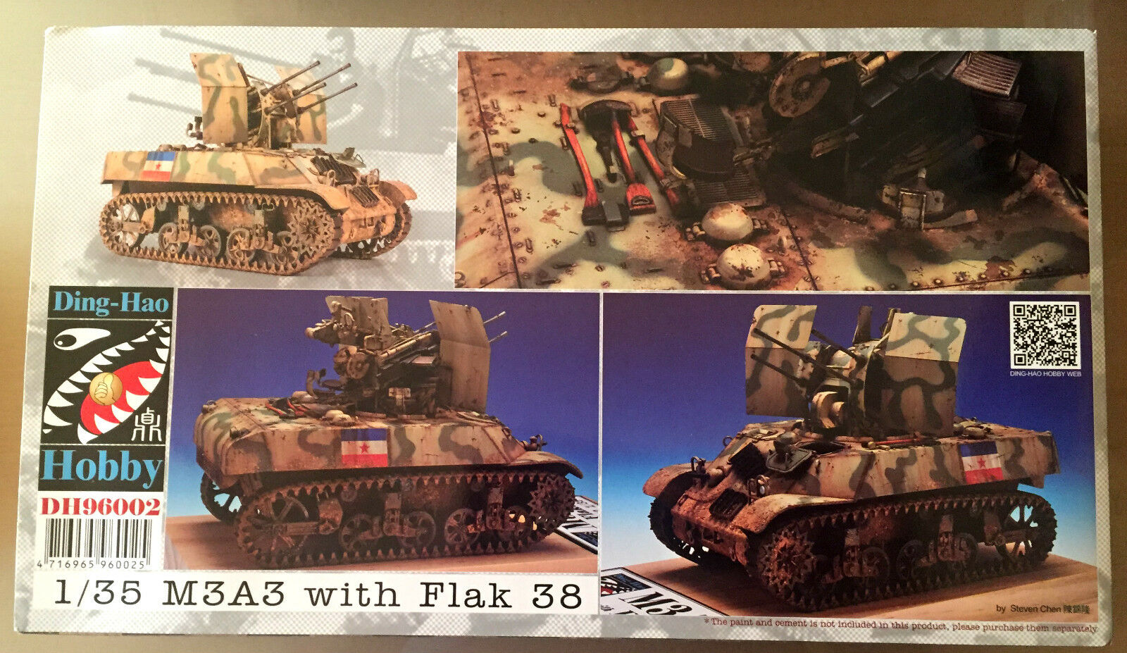 DING-HAO DING-HAO DING-HAO HOBBY DH96002 1/35 M3A3   FLAK 38 NUOVO   Outlet Online Store  782672