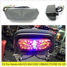 12V Motorcycle Tail Light LED Brake Stop Lamp License Plate Light Fit For MSX125