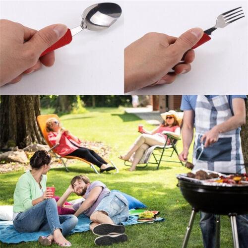 Couteau fourchette cuillère camping multifonction 4 en 1 bushcraft survie