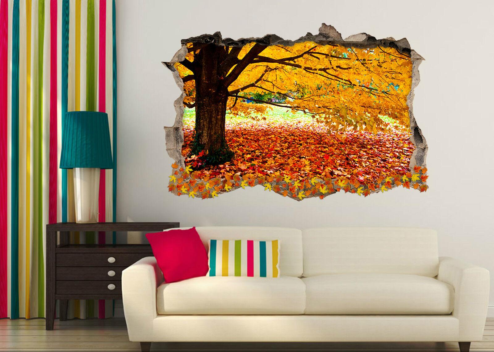 3D Herbst Wald 47 Mauer Murals Aufklebe Decal Durchbruch AJ WALLPAPER DE Lemon