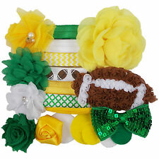 Green Bay Packers - Mini DIY Headband Kit - 7 Bands - Baby Shower Birthday Party