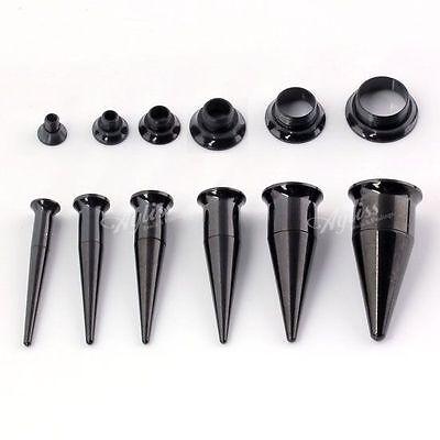 Pick Gauge ´2 in 1´ Surgical Steel Taper Ear Flesh Screw Tunnels Plugs Kit Set