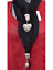 ladies black heart pendant jewellery silver scarf scarves charm present gift
