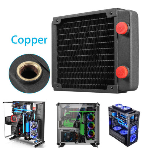 Full Copper 120mm 13 Tubes Computer PC Water Cooling Radiator CPU GPU Heatsink !