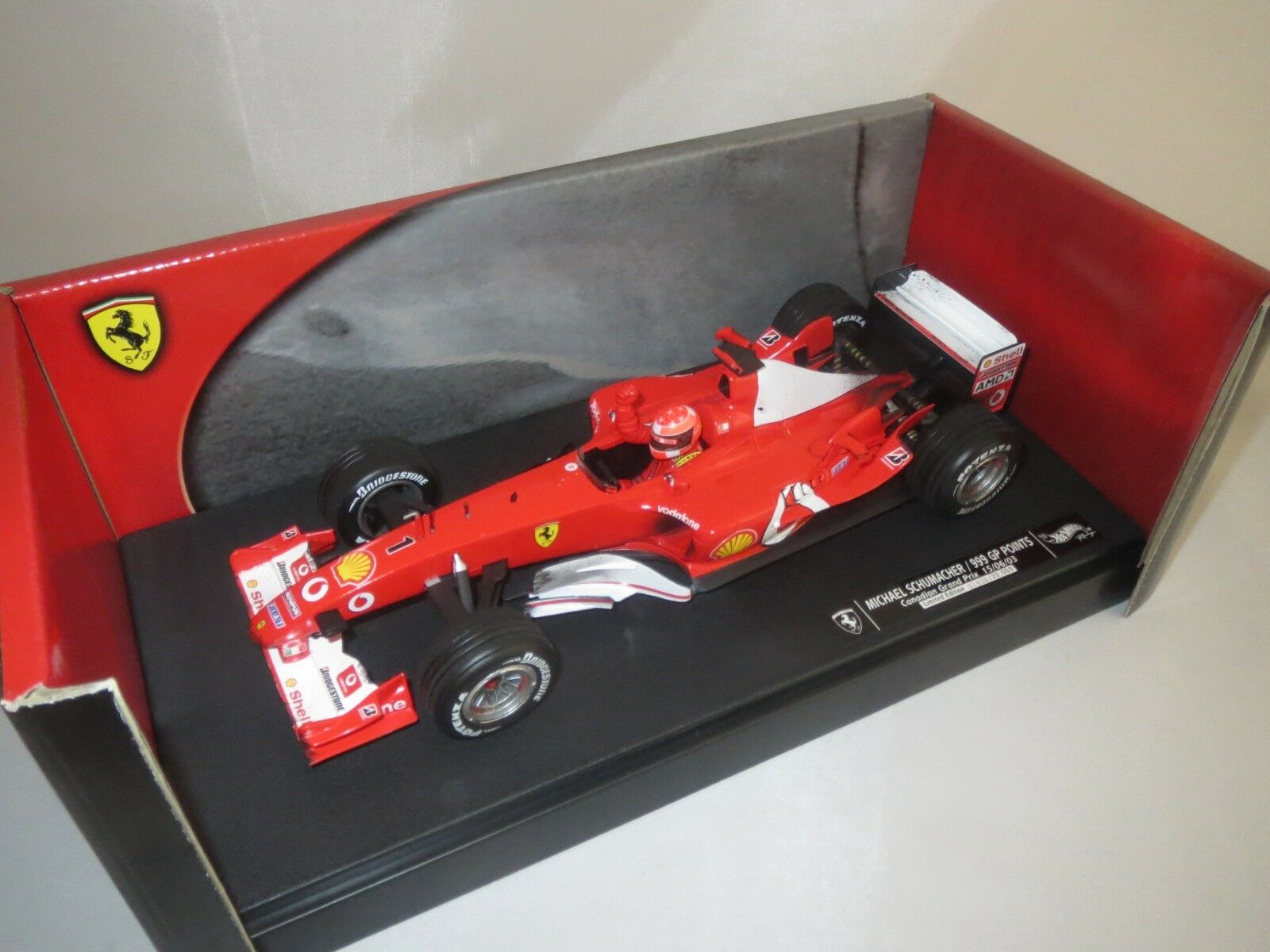 Mattel c5938  m. schumacher  (Canadian Grand Prix)  2003   18 embalaje original (f47)