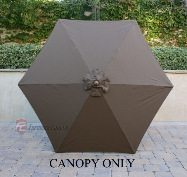 Formosa Covers 9ft Umbrella Replacement Canopy 6 Ribs In Cocoa Only