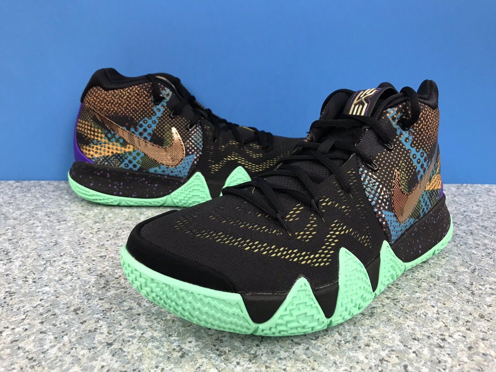 Nike Kyrie 4 Mamba Mentality AV2597-001 Black Sonic Yellow Basketball Sz 10.5