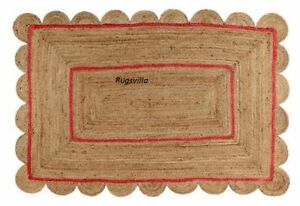 Jute 100% Natural Rug Indian Braided style Handmade vintage home décor Jute Rug