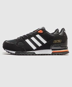 adidas-Mens-Originals-ZX-750-Trainers-Black-Orange-Shoes-New-Limited-Stock
