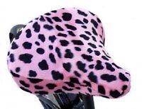 Beach Cruiser Bike Seat Cover Pink Dalmatian Soft Fur