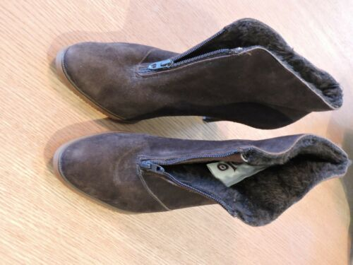 GOLO BRAND Vintage 1960s Brn Suede Fuzzy Lined Boo