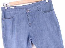 F522 Pantalones Jeans Lacoste Devanlay Azul Tela Delgada Original Premium Tamaño UK34F44
