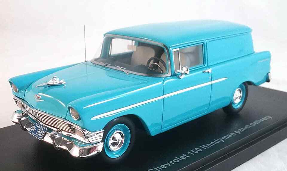 1956 CHEVROLET 150  Handyhomme panel delivery wagon à l'échelle 1 43 par ESVAL  vente directe d'usine