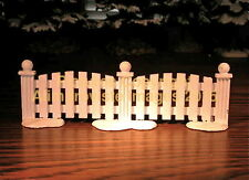 Dept 56 Snow Village WHITE METAL PICKET FENCE! 51012 NeW! MINT! FabULoUs!