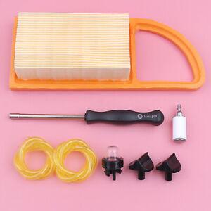Air-Fuel-Filter-Line-For-Stihl-BR600-BR550-BR500-Carb-Adjustable-Tool-Choke-Knob