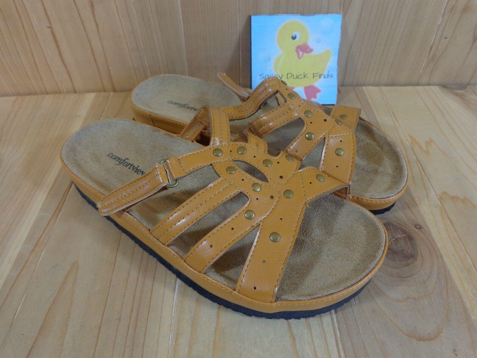 Comfortview Sandals Womens Brown Size 8 Medium Light Brown Womens 41ed4f