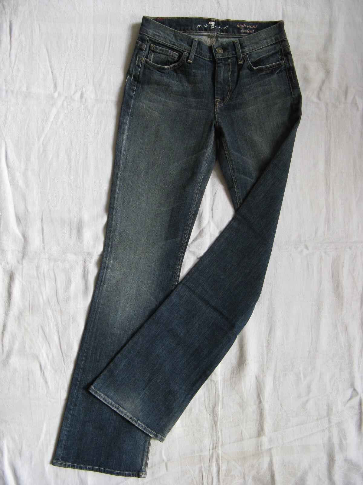 7 SEVEN FOR ALL MANKIND Donna blu Jeans Stretch w26 l32 High Waist avviocut