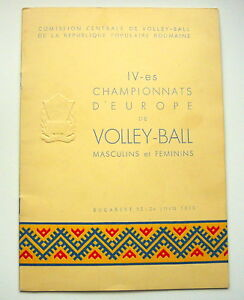 1955-EUROPEAN-VOLLEYBALL-Championships-Official-PROGRAM-Programme-Romania