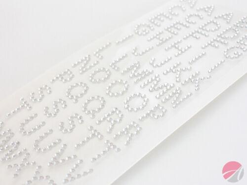 15mm Claro Diamante autoadhesivo letras del alfabeto Artesanía embellisment AC-09