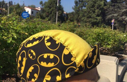 CYCLING CAP BATMAN LOGO  100/% COTTON ONE SIZE /& ANY SIZE  HANDMADE