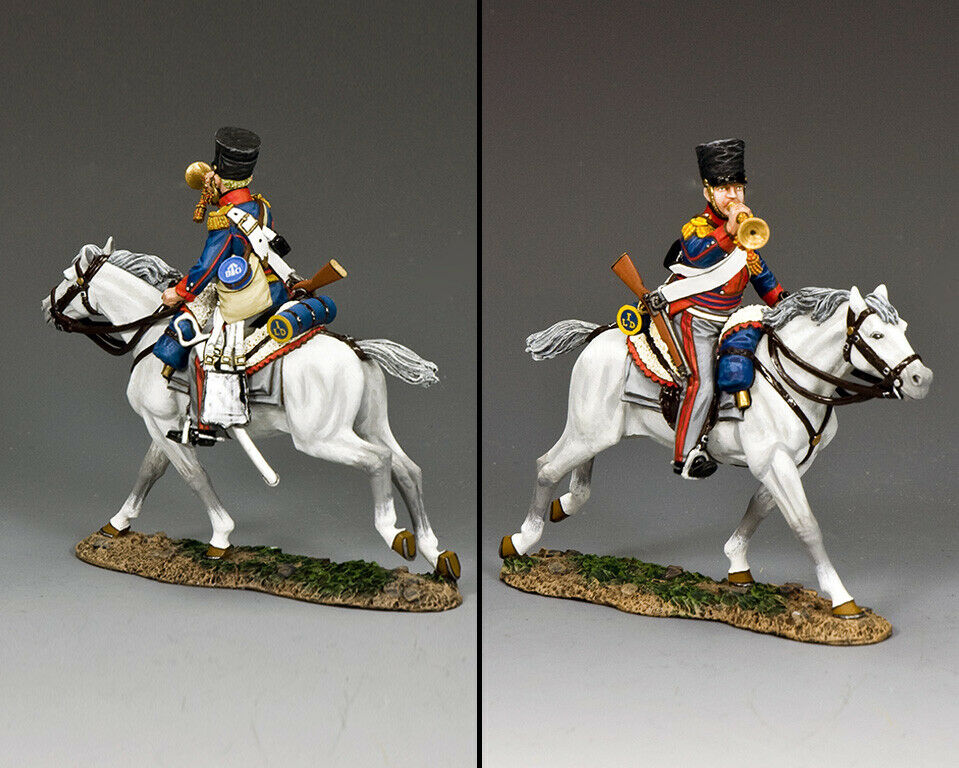 King & Country die Age Of Napoleon NA433 Kgl Halterung Trumpeter MIB