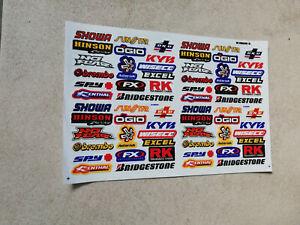 Mini Sticker Aufkleber auf Bogen Hinson KYB NoFear RK Racing Motorsport Tuning