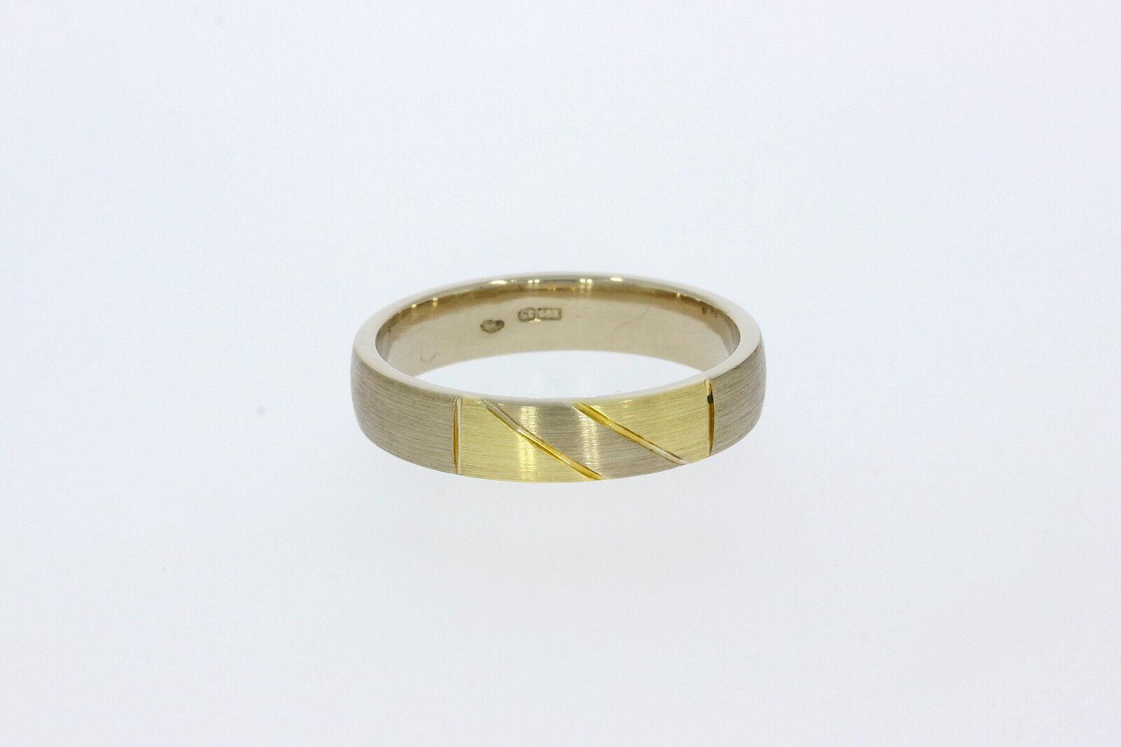 8203-585er W-yellowgold Ehering Ringgroße 66 Breit 5 mm Gewicht 8,2 Gramm