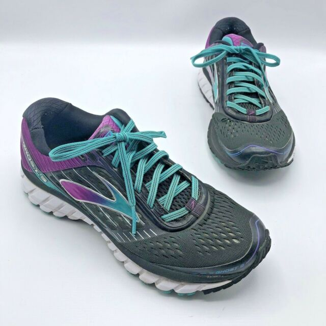 3efe59395ef4c Brooks Ghost 9 Womens 11 M Running Shoes Black Purple Teal 1202251B092