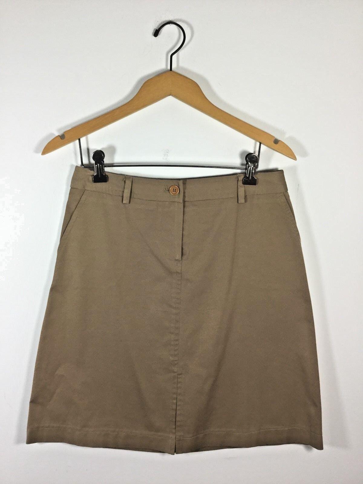 TRINA TURK Brown Size 6 Cotton Knee Length Skirt