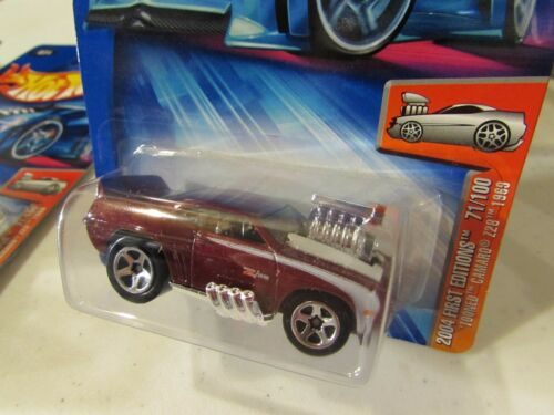 Hot Wheels Tooned 1969 Camaro Z28 2004 First Editions #071 Burgandy