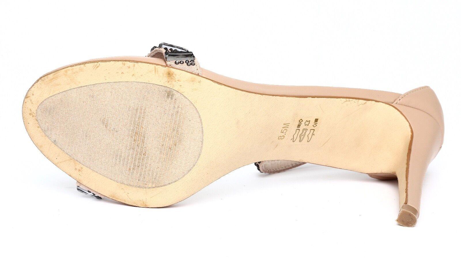 Steve Madden Damenschuhe Damenschuhe Damenschuhe Suzzana Beige Ankle Strap Sandale Heels Sz 8.5M 5099 e1f262