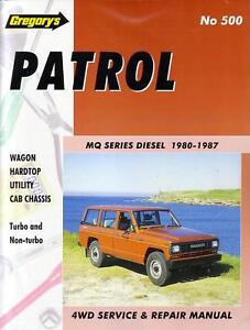 gregorys workshop repair manual nissan patrol mq diesel ebay rh ebay com au service manual nissan patrol 260 service manual nissan patrol y60
