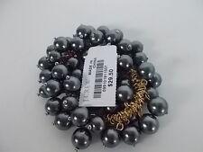 J.Crew Cluster Bauble Glass Bead Gold Link Elastic Bracelet NWOT $29.50 SILVER