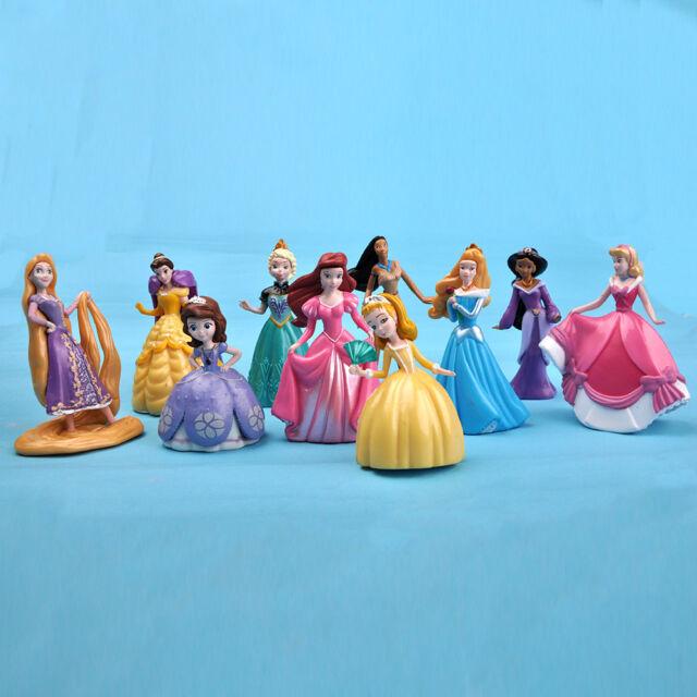 10 pcs Princess Rapunzel Sofia Ariel Toy Figures /Cake Topper