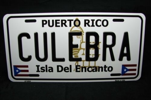 PUERTO RICO CULEBRA ISLA DEL ENCANTO METAL NOVELTY LICENSE PLATE FOR CARS