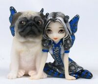 STRANGELING FAIRY HEAVENLY PUG PIXIE FIGURINE GIFT ORNAMENT SCULPTURE