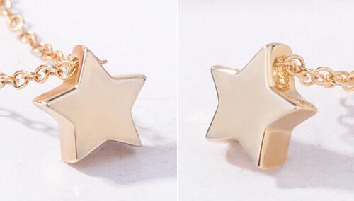 Argent sterling 925 3D Solide Star Pendentif Rolo Chaîne Collier Femmes Filles Maman