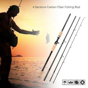Telescopic Baitcasting Medium Fishing Rod Fishing Pole 2.4M Casting Rod New U9L7