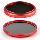 FOTGA Fader Variable ND Filter 82mm ND2 to ND400 ND100 Neutral Density Red Ring