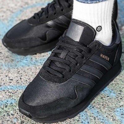 ADIDAS HAVEN J Sneaker Turnschuhe Black Unisex Damen Originals Schwarz CM8023