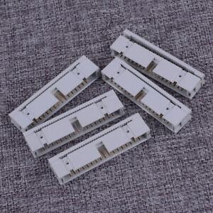 10PCS DC3-10P 2.54mm 2x5 Pin Straight Male Shrouded header IDC Socket SGUS