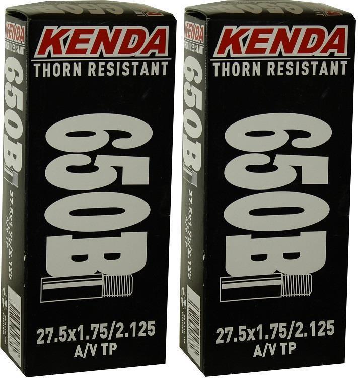 2x Kenda 27.5  650B ThornProof PRESTA F V P V MTB Tube 27.5x1.75-2.125