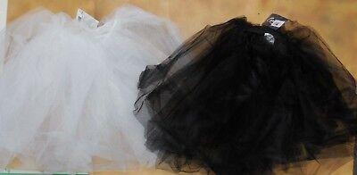 NWT Dance CAPEZIO Romantic Nylon Net 2 Layer Tutu White or Black Adult//Child Szs