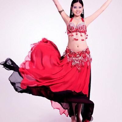 C91818 Professionale Danza Del Ventre Costume 2 Pezzi Reggiseno Cintura Carnevale Narnia-