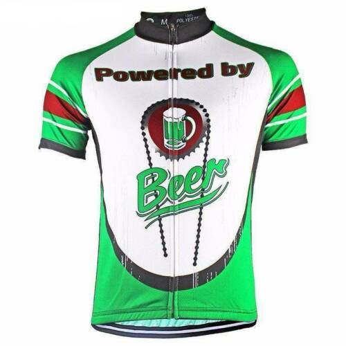 Green Powered By Beer Cycling Jersey