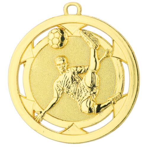 Pokale & Preise D4A 10 Fußball-Medaillen mit Deutschland-Bändern